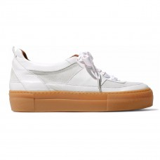 ganni leather and suede platform sneakers