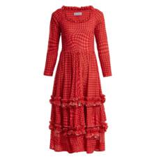 molly goddard pink gingham kelly dress