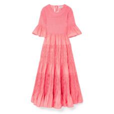 molly goddard shaan shirred taffeta dress