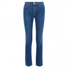 re-done midrise straight leg jeans