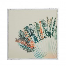 stone and beam modern turquoise and orange palm print