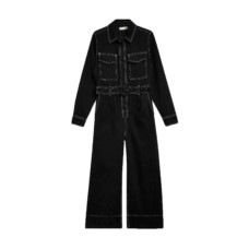 top shop contrast denim boilersuit