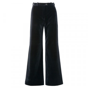 acne studios cotton velvet wide leg pants