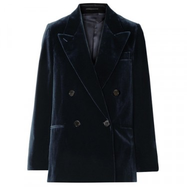 acne studios double breasted cotton velvet blazer
