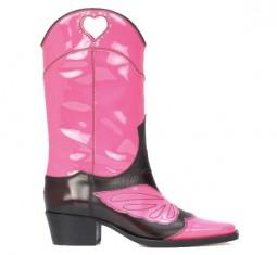 Marlyn Leather Cowboy Boots by Ganni