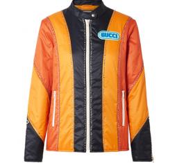 Embellished Paneled Shell Bomber Jacket by Gucci