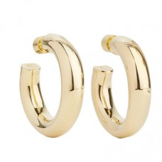 jennifer fisher mini jamma gold plated hoop earrings
