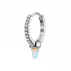 maria tash opal and diamond single spike eternity ring