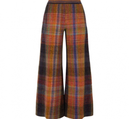 Checked Crochet-Knit Wide-Leg Pants by Missoni
