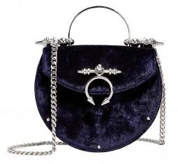 Saddle Velvet Crossbody Bag by Okhtein
