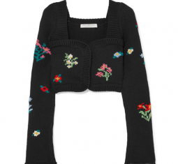 Cropped Wool and Wool-Blend Cardigan by Philosophy di Lorenzo Serafini