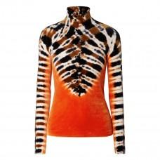 proenza schouler tie dyed stretch velvet turtleneck top