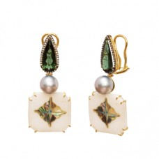 silvia furmanovich marble mosaic earrings