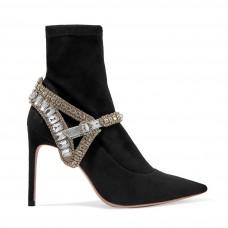 sophia webster lorena crystal embellished stretch suede sock boots