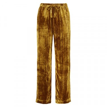 stine goya aileen crushed velvet pants