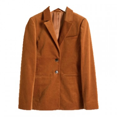 stories corduroy blazer orange