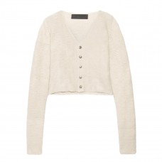 the elder statesman cropped cashmere cardigan