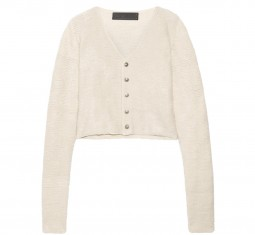 Cropped Cashmere Cardigan by The Elder Stateman
