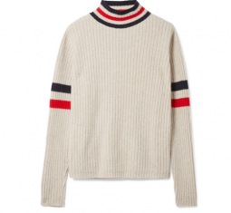 Odyssey Striped Ribbed Cashmere Turtleneck Sweater by The Elder Statesman