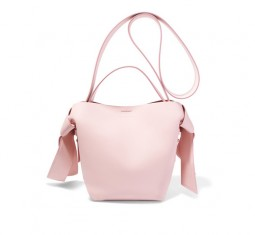 Musubi Mini Knotted Leather Shoulder Bag by Acne Studios
