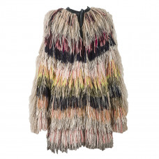 alessandra petersen fringe coat