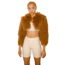 char workroom shani cropped mongolian fur coat