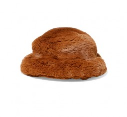 Faux Fur Bucket Hat by Emma Brewin