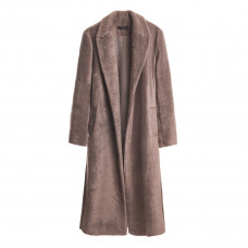 franki shop pebble furry wrap coat