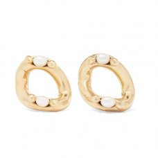 rosantica ingranaggio gold tone pearl earrings