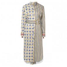 silvia tcherassi contrast panel coat