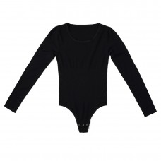 yummie long sleeve thong back bodysuit