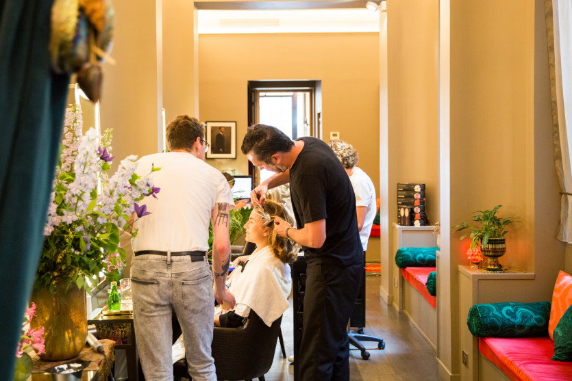 inside christophe robin paris hair salon