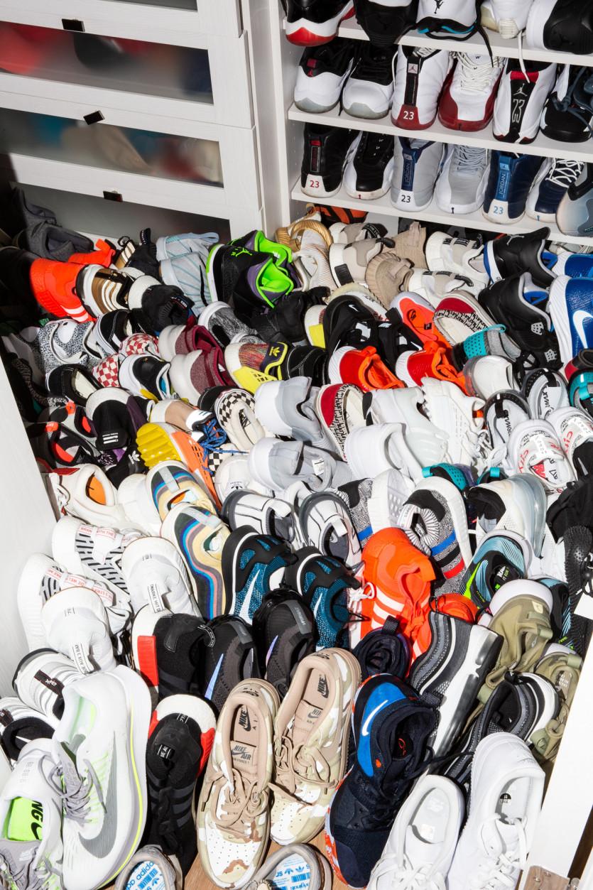 inside reshad jones closet