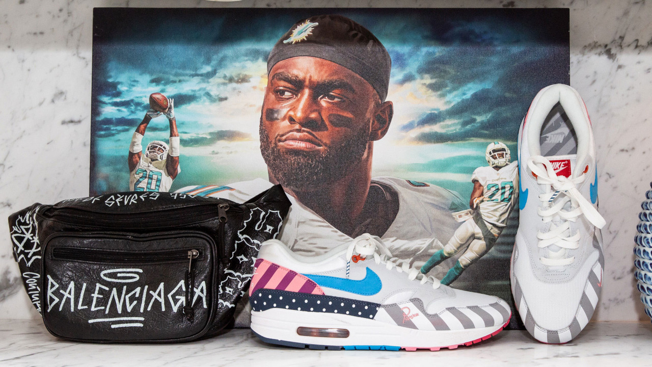 Would You Expect Less Than 400 Pairs of Sneakers in a Miami Dolphins Player's Closet?