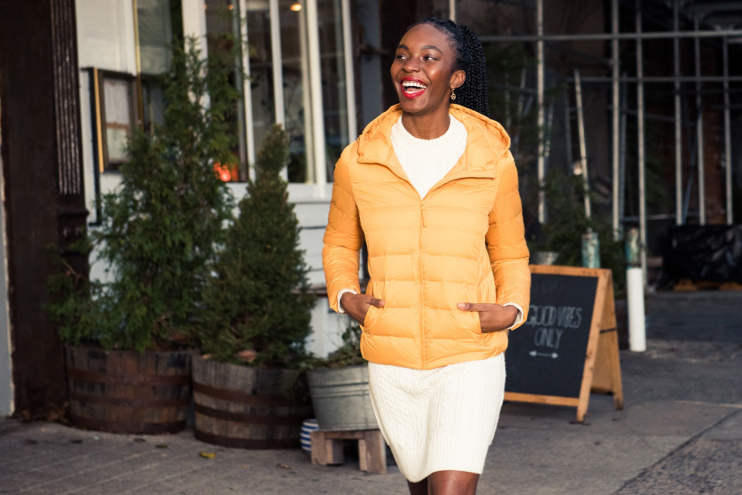 how to stylishly dress for cold weather