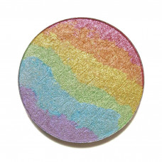chaos makeup kaleidoscope rainbow highlighter