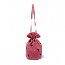 ganni embellished satin pouch