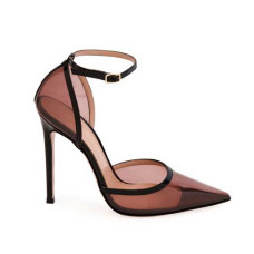 gianvito rossi blush plexi ankle strap pumps