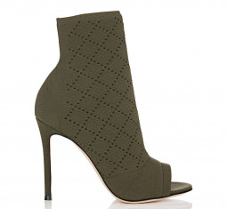 Perforated Knit Ankle Booties by Gianvito Rossi