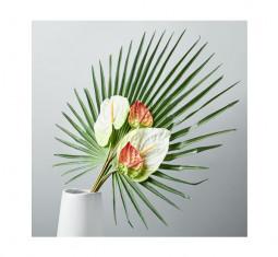 Metaflora Faux Fan Palm + Anthurium Bouquet by West Elm