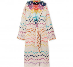 Vera Hooded Cotton-Terry Robe by Missoni Home