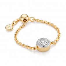 monica vinader fiji button friendship chain ring