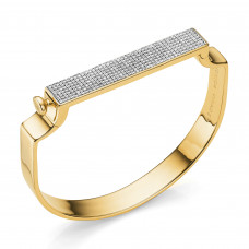 monica vinader signature bangle in gold diamond
