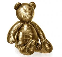 24K Gold Crocodile Teddy Bear by Stalvey