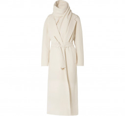 Tooman Cashmere and Wool-Blend Coat and Scarf by The Row