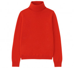 Women Cashmere Turtleneck Sweater by UNIQLO