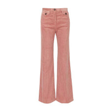 alexa chung cotton blend corduroy bootcut pants