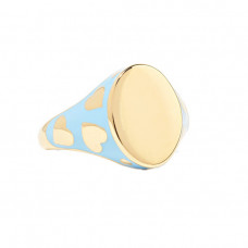 alison lou amour 14 karat gold and enamel ring