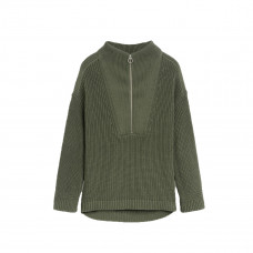 closed cotton half zip sweater