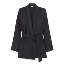 eres midday striped silk satin jacquard robe